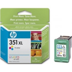 Tinteiro de marca HP 351XL Tri-colour Inkjet Print Cartridge with Vivera Inks